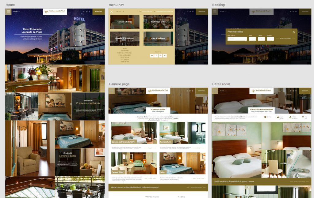 Dettaglio sviluppo Hotel Leonardo con Adobe XD