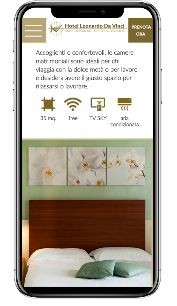 Mockup Iphone X sito Leonardo da Vinci Erba